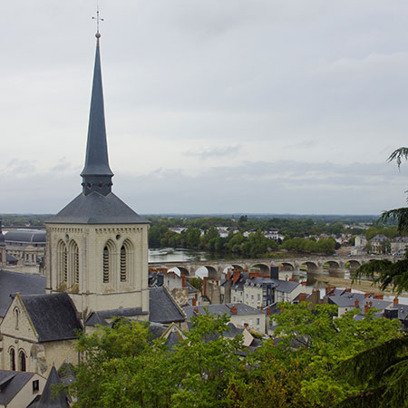 Blick auf das Schloss Saumur
