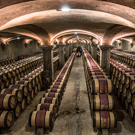 Der Keller von Château Margaux