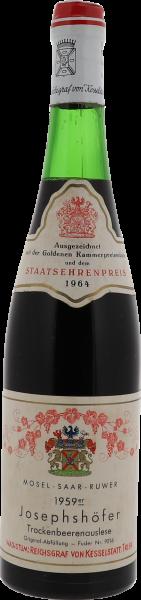 1959 Josephshöfer Riesling Trockenbeerenauslese Fuder 9016