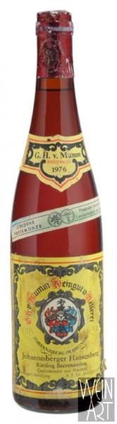 1976 Johannisberger Hansenberg Riesling Beerenauslese