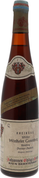 1959 Winkeler Gutenberg Riesling Beerenauslese