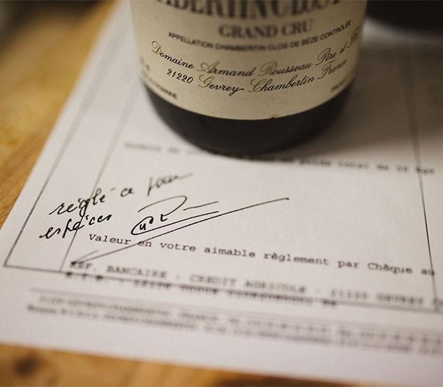 Kaufvertrag für Ihren Weinkeller