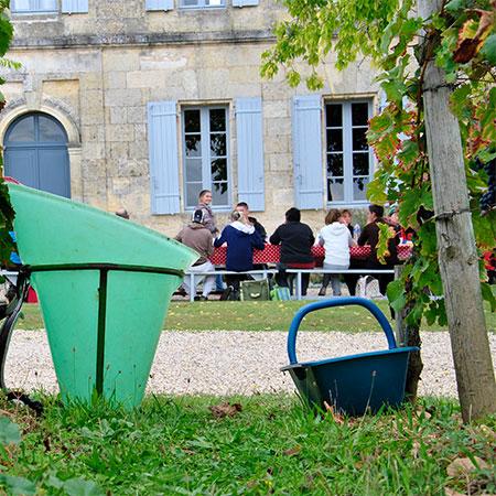 Mittagessen auf Château Lafleur