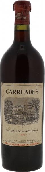 1875 Carruades de Lafite Pauillac - recorked