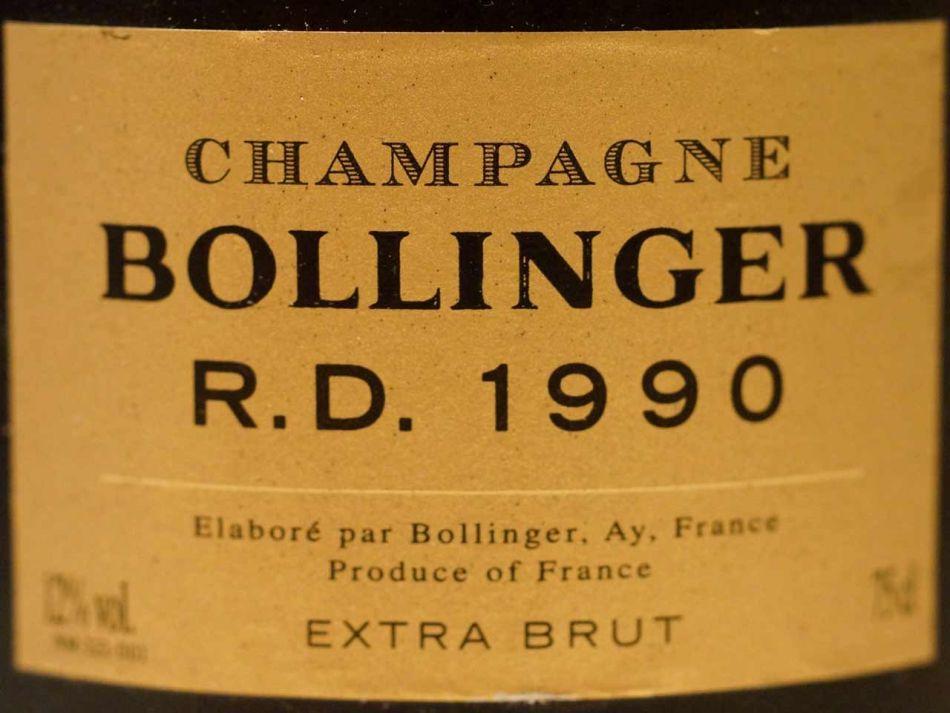 1990 Champagne Bollinger R.D. extra Brut