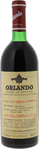 1976 Orlando Shiraz Cabernet Sauvignon Barossa Valley